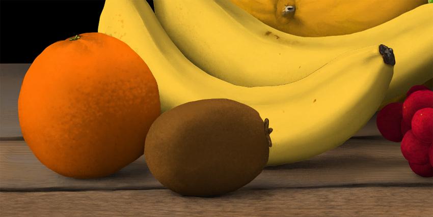 paint orange surface