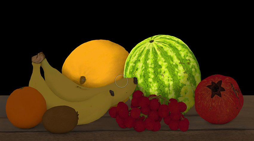 blend light on melon