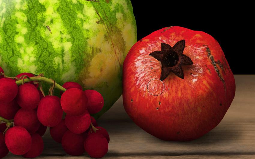 add shine to pomegranate