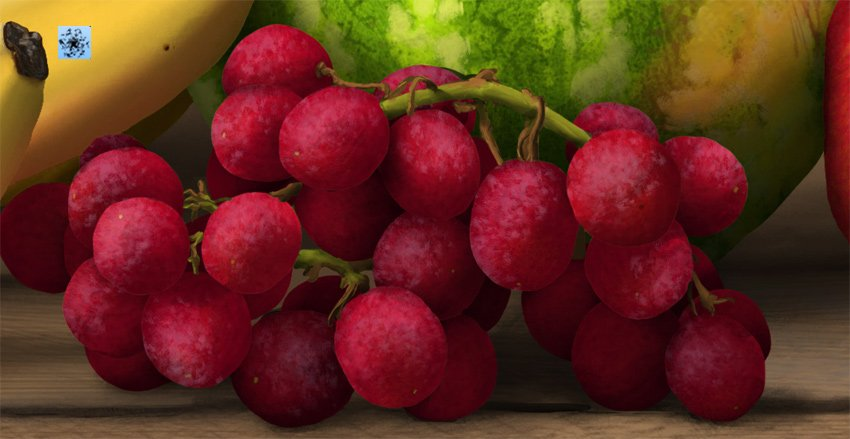 add waxy texture to grapes