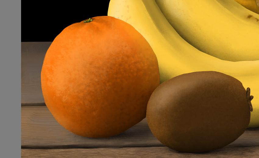add texture to orange