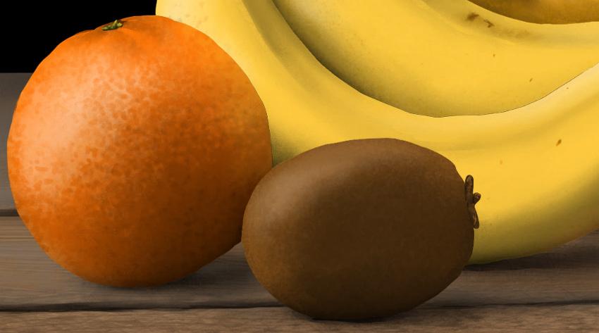 add shine to orange