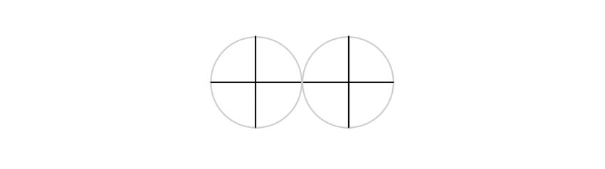 divide circles into quarters