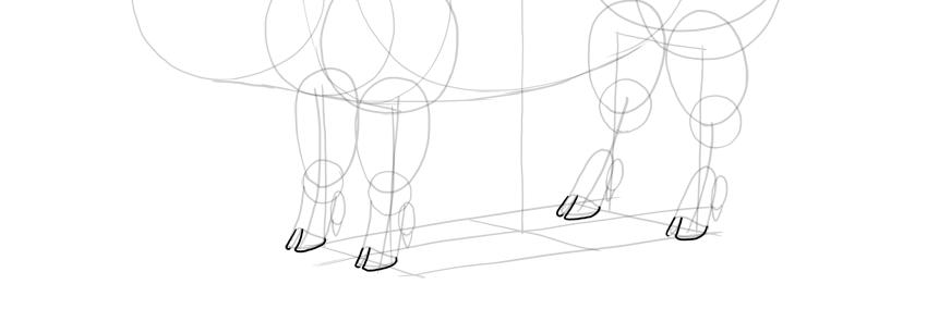 outline pig shooves
