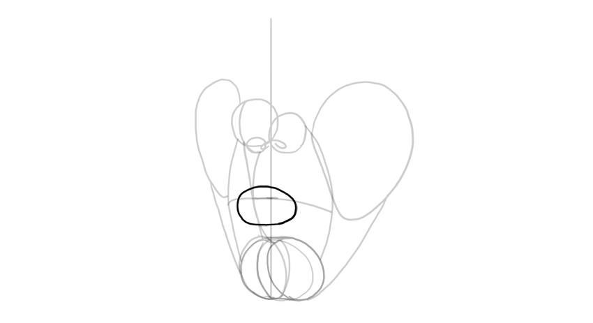 lips outline in perspective