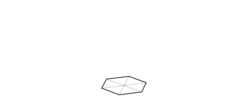 draw base of hexagonal crystal