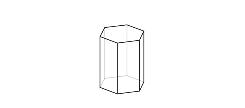 finish hexagonal crystal