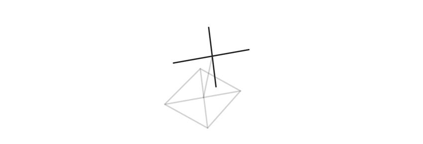 draw second base of trigonal crystal