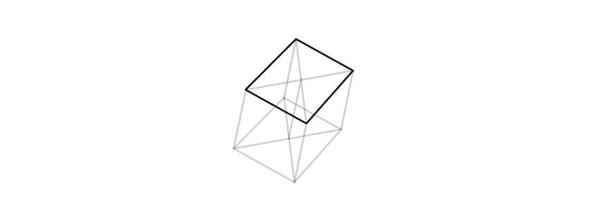 outline upper base of trigonal crystal
