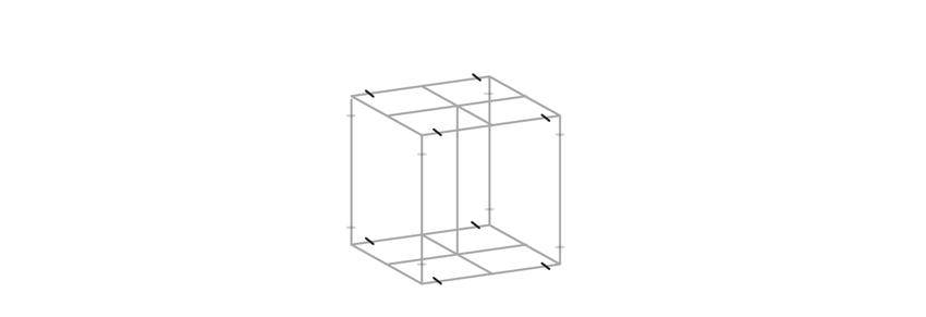 mark horizontal sides