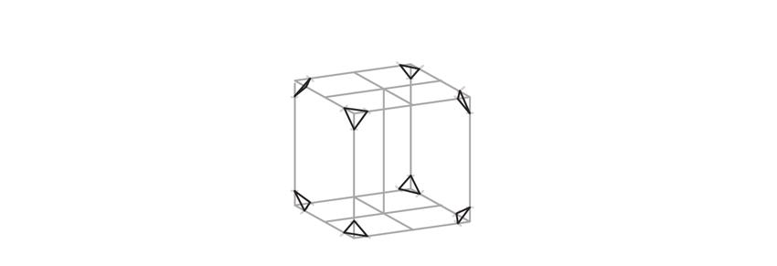 draw triangles on corners