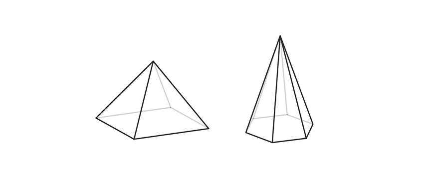 how to draw crystal pyramid