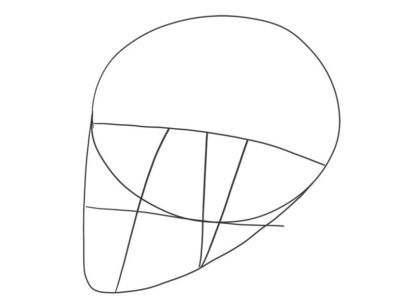 side view simple skull