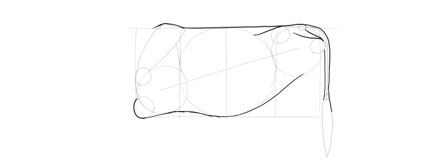 outline cow body