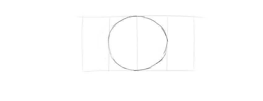 draw oval chest in middle