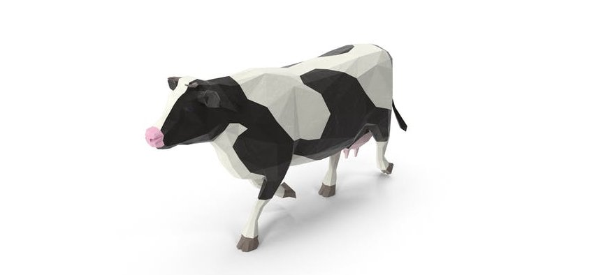 low oply cow 3d model