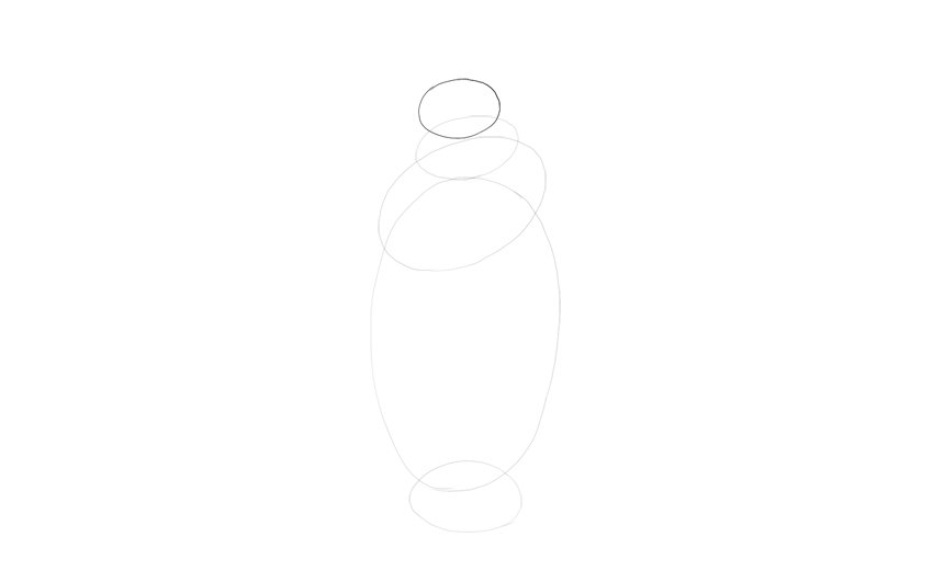 draw oval for head