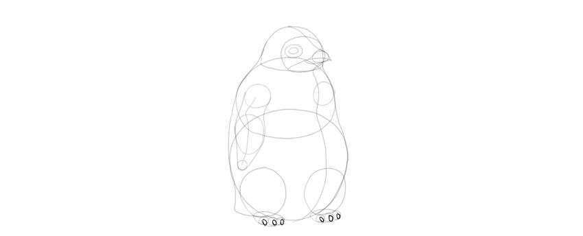 add penguin toenails