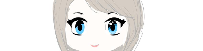how to create vector managa eyes