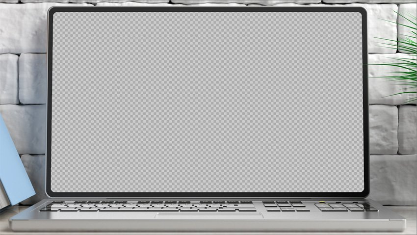 laptop screen prop mockup