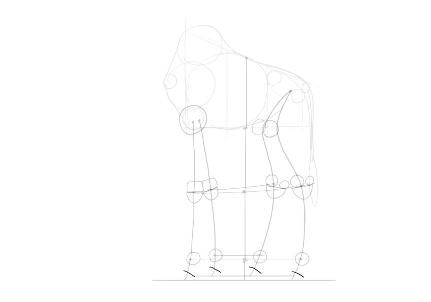 sketch hooves
