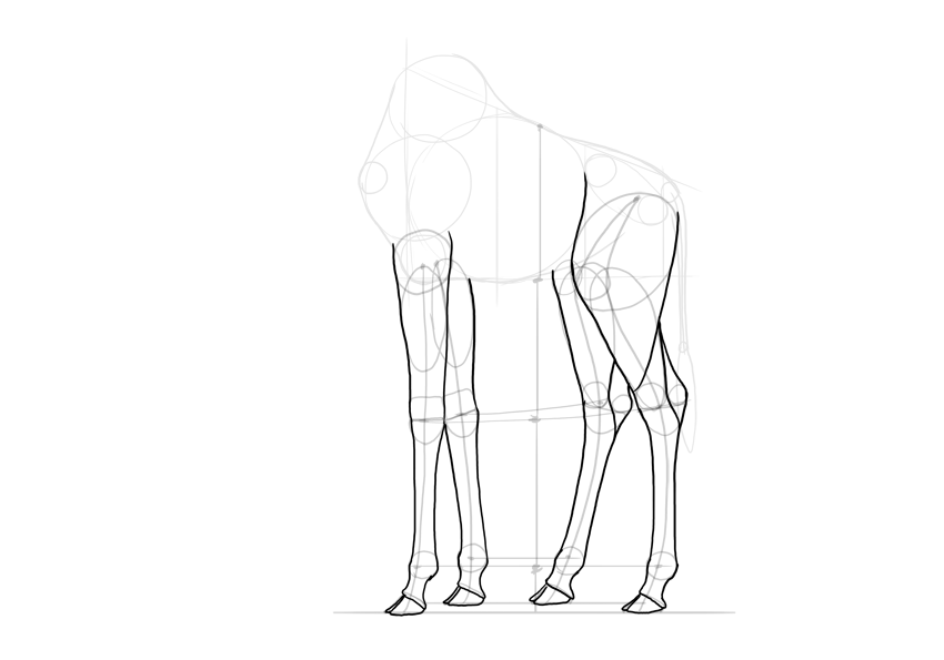 outline giraffe legs