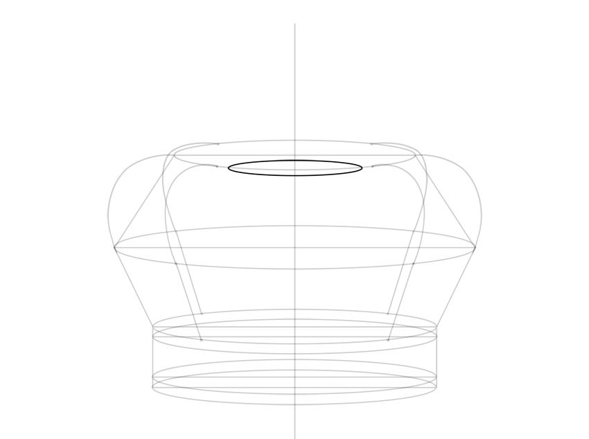 bending in the center
