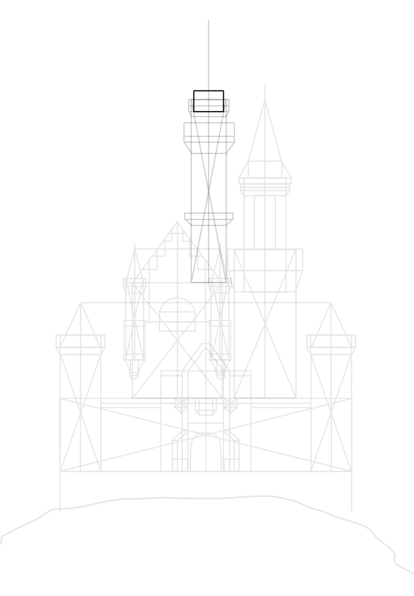 narrower top of watchtower