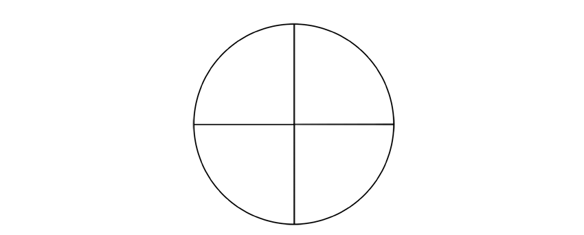 circle with diameters