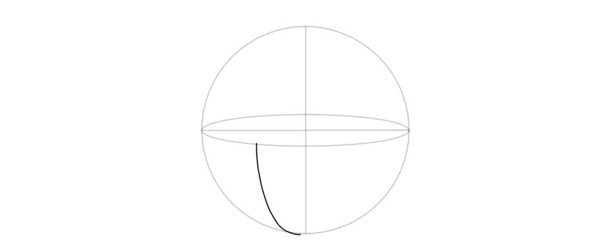 draw curve from bottom