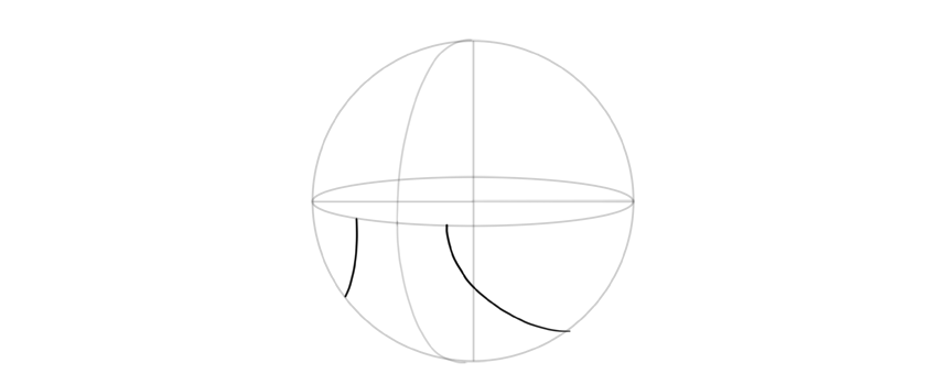 draw curves around ball