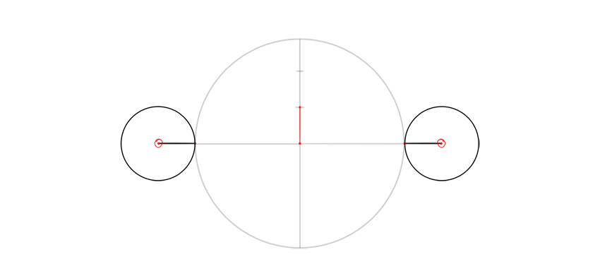 draw circles on side