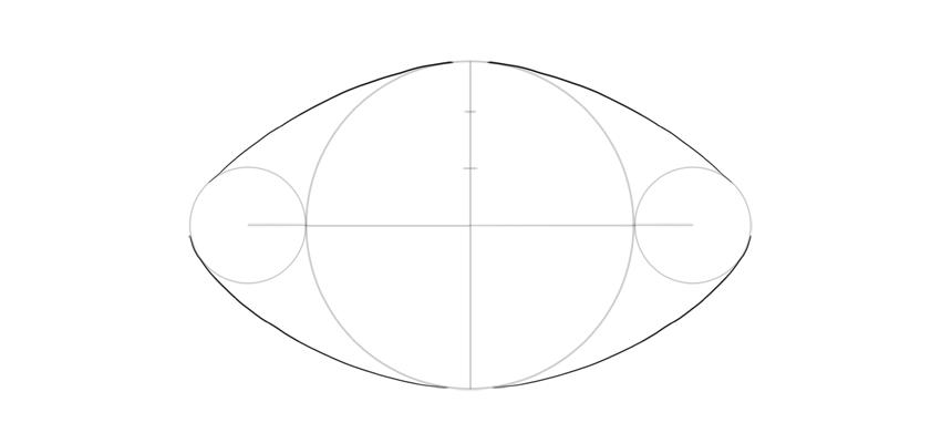 outline football shape