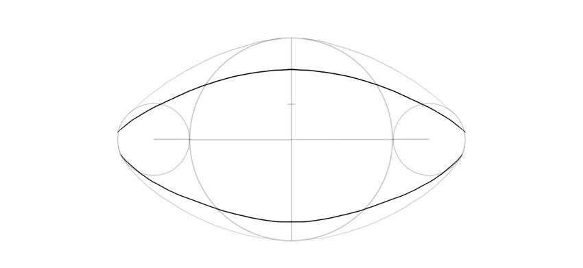 draw curves around football