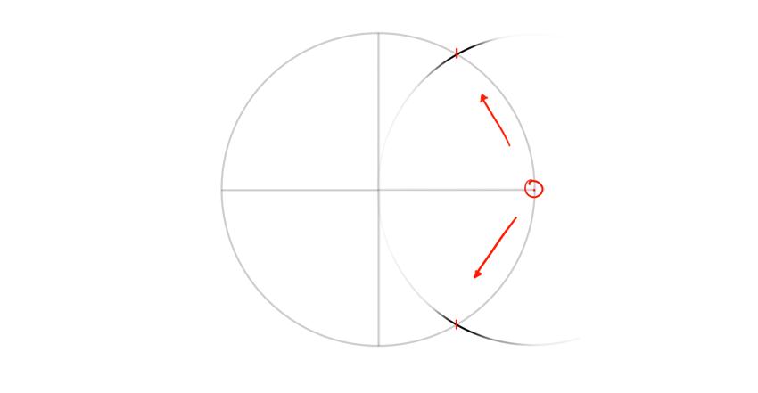 find half of radius