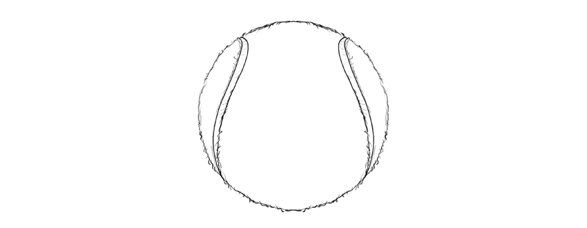 how to draw a tenis ball step by step