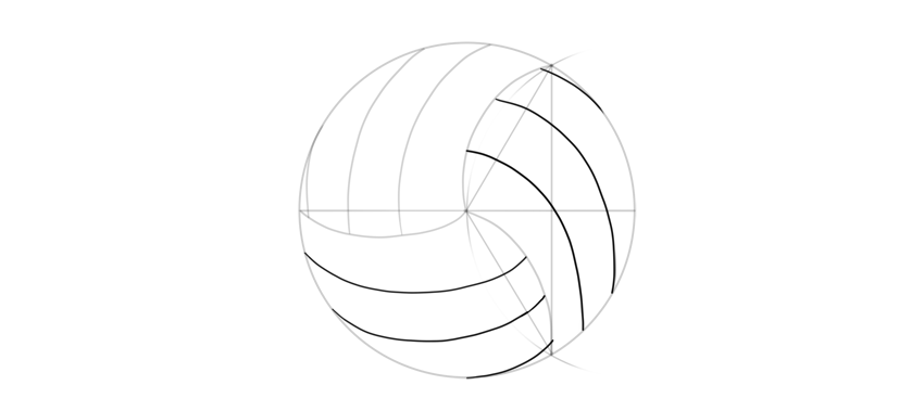 how to sketch volleyball