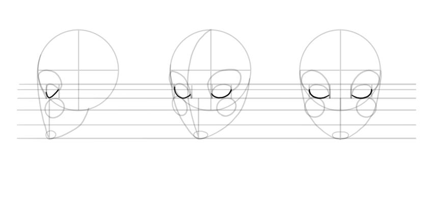 draw lower eyelids