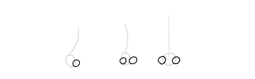 simplified nostrils