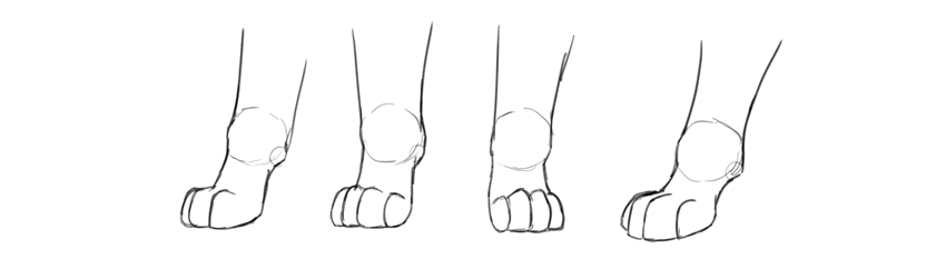 how to draw disney dog paws