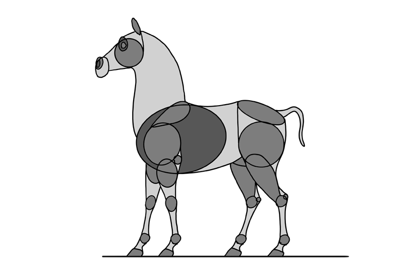 how to draw a disney horse