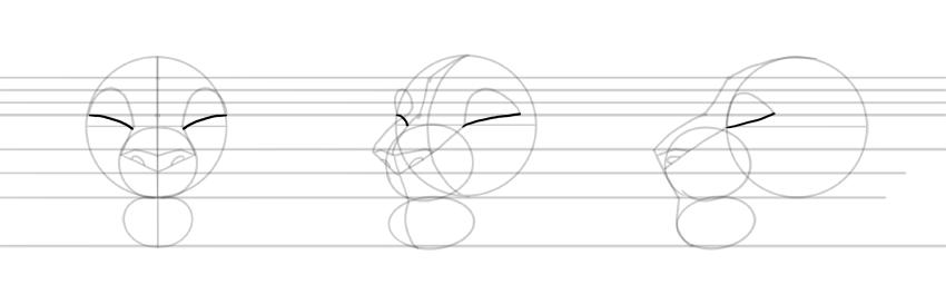draw depth of eye sockets
