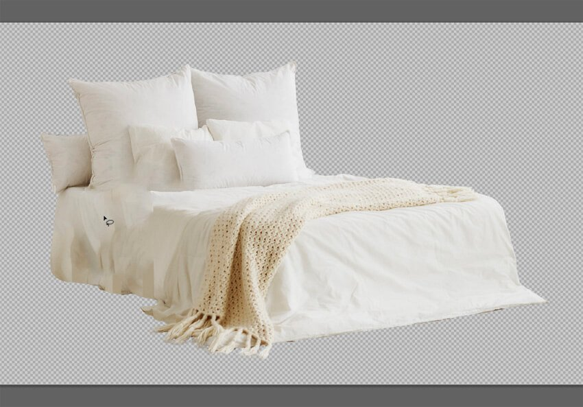 remove objects from the bed