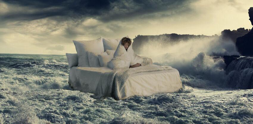 make sheets look wet
