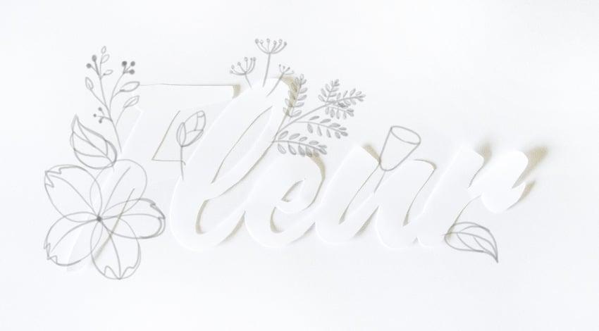 sketch bell shaped flower