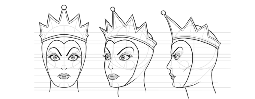 draw evil queen from snow white