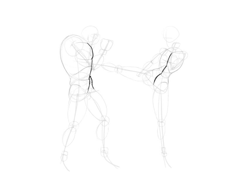 torso middle line