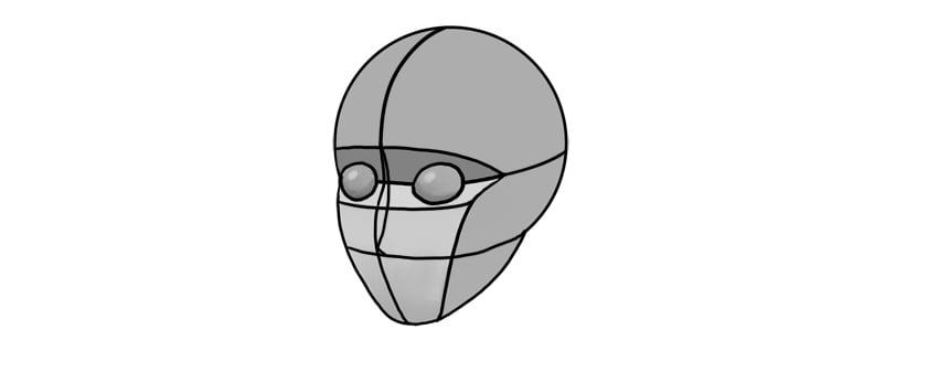 manga nose proportion