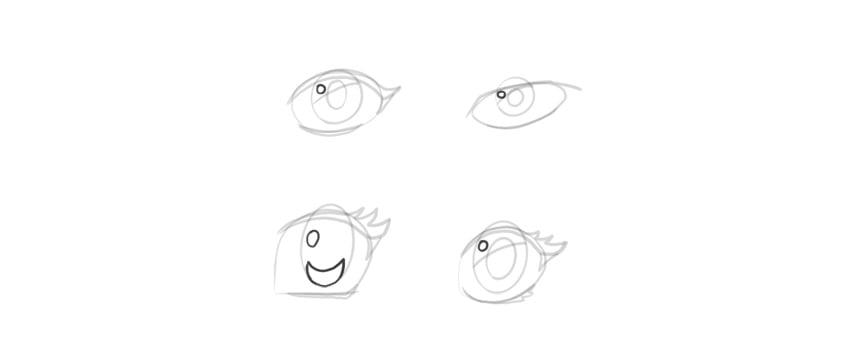 manga eyes shine dot