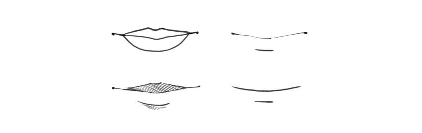 manga lips styles